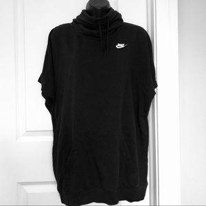Nike Tunic Hoodie Short Sleeve Sweatshirt